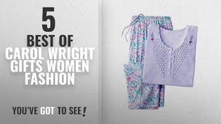 Carol Wright Gifts Women Fashion [2018 Best Sellers]: Carol Wright Gifts Smocked-Top Pajamas &
