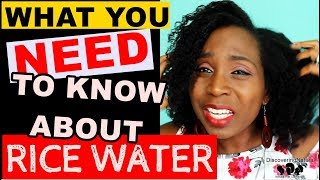 What You NEED To Know About RICE WATER RINSE for HAIR GROWTH