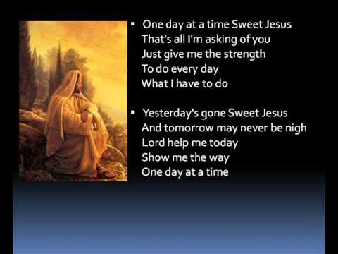 One day at a time lyrics