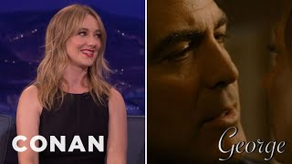 Conan Surprises Judy Greer With Her Kissing Reel  - CONAN on TBS