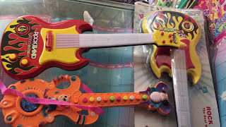 Teach Children to Play Rockband Music Guitar | Kids Play Rock and Roll Style