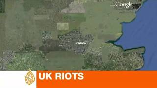 Europe - UK - 20110809 - Google map of the UK riots by AJE.