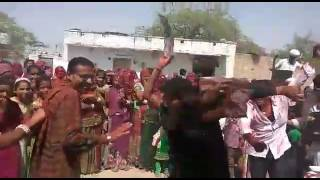 Jhanwer(jodhpur) boys crazy dance on Rajasthani dhol thali