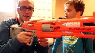 New Nerf Gun 2017 Unboxing & Review:  Accustrike Alphahawk