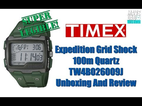 Timex Expedition Grid Shock 100m Quartz TW4B026009J Unboxing And Review