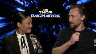 Thor Ragnarok Official Interview - Tom Hiddleston & Tessa Thompson