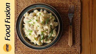 Pasta in White Sauce Recipe by Food Fusion