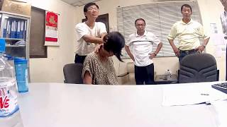 Instant healing given at a Vietnamese Textile corporation. Various pain & illnesses were treated