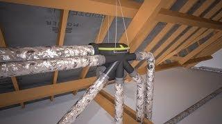 La ventilation VMC double flux et simple flux d'une maison neuve - Je construis ma maison avec Aldes