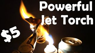How To Make a Powerful Jet Torch - Melts Metal, Easy Build!