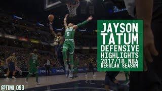 Jayson Tatum Defensive Highlights 2017/18 NBA Regular Season