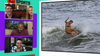 Surf Legend Bethany Hamilton Carves It Up While 6 Months Pregnant I TMZ Sports