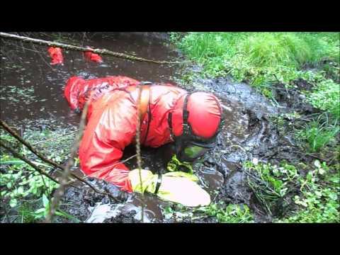 Fun in red april rainwear
