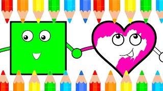How To Draw Shapes For Baby Learn Simple Drawing and Coloring Book For Kids