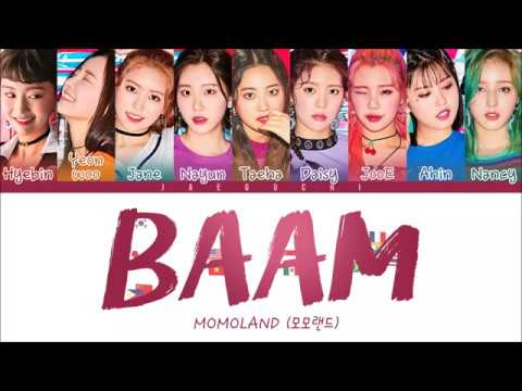 MOMOLAND(모모랜드) - BAAM (Color Coded Lyrics EngRomHan)