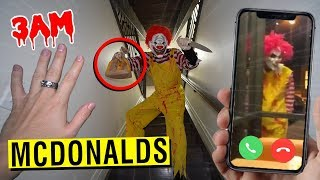 CALLING RONALD MCDONALD ON FACETIME AT 3 AM!! (ATTACKED)