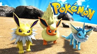 CATCHING ALL THE EEVEE EVOLUTIONS? (Ark Pokemon)