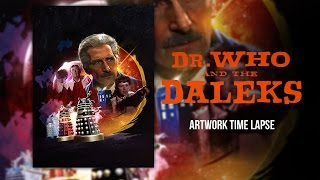 Doctor Who - Dr. Who and the Daleks - Artwork Time Lapse