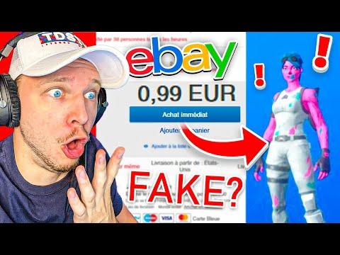 J ai acheté des COMPTES FORTNITE RARE sur Ebay je me fais ARNAQUER