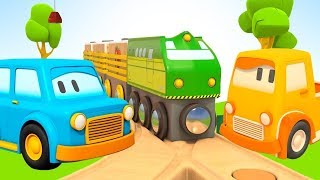Cartoon für Kinder. Die Schlauen Autos und ihre Spielzeugzüge.