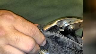 How to fix a broken zipper or separating zipper