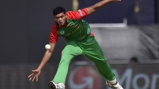 Bowling action of Taskin Ahmed is