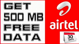 Get 500mb Free Airtel Data | 2g/3g/4g | 100% working | Latest offer by airtel