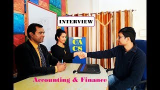 Accounts, Accounting, Finance Jobs Interview | Chartered Accountancy Article ship Interview |