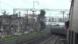 Ranaghat junction to Krishnanagar city junction EMU local train full journey (UP) #ayeetra