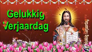 0 134 Dutch Happy Birthday Greeting Wishes includes Jesus  Christ  with Bible by  Bandla