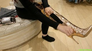 Shoe shopping with Nikki, Charlotte Russe, boots
