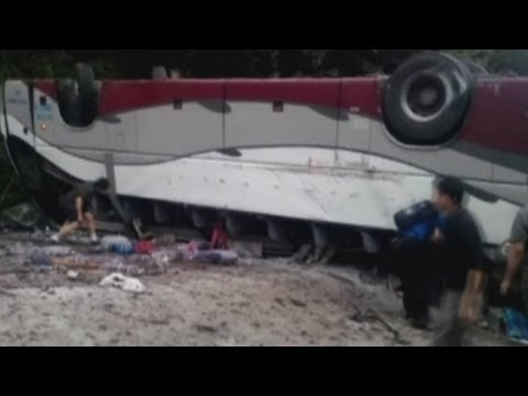 Xxx Mp4 Six People Killed After Bus Overturns In China 3gp Sex