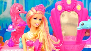 Barbie Toys - Mermaid Doll and Beauty Salon from the Barbie Movie The Pearl Princess - Kid-friendly