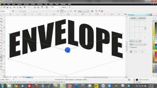 corel draw text effects training tutorials: envelopes