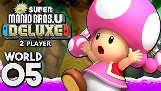New Super Mario Bros. U Deluxe - World 5: Soda Jungle! (2 Player)