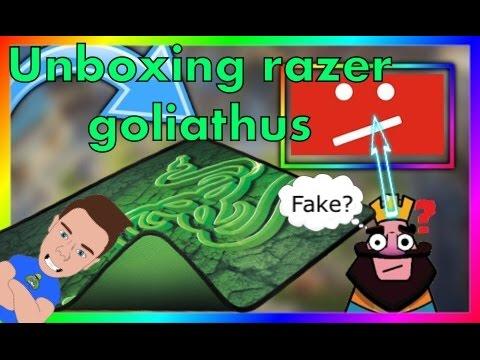 UNBOXING TAPIS DE SOURIS RAZER GOLIATHUS + POISSON D'AVRIL!