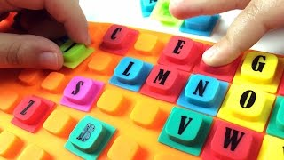 Learn ABC THE ALPHABET with cute squishy alphabet squares. Let