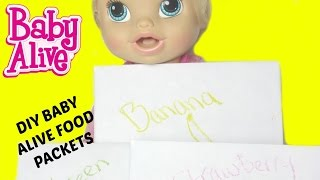 How to make BABY ALIVE FOOD PACKETS with Flour!  By Baby Alive Channel