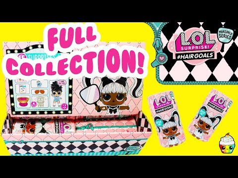 LOL Hairgoals Makeover Series FULL CASE New LOL dolls Real Hair