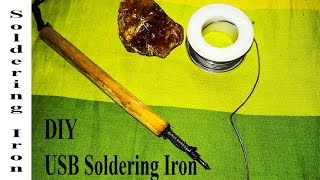 How to make a MINI 12v Battery Powered Soldering Iron Tool