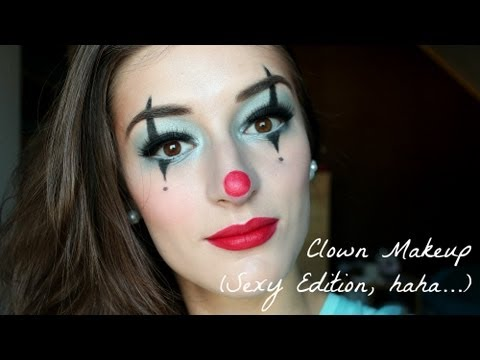 Clown Makeup Tutorial Sexy Edition for halloween