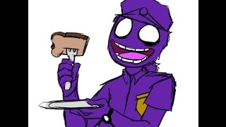 Purple Guy cosplay - waiting for toast