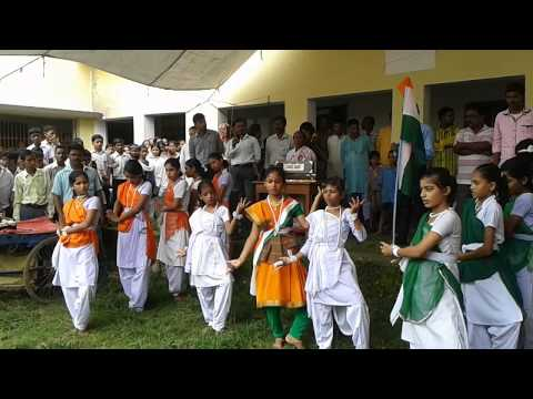 School girl's dance at Chorolmoni High School,Chanchal,Malda