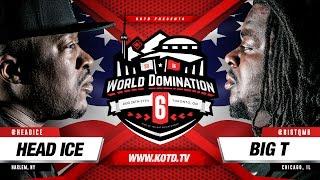 KOTD - Rap Battle - Head I.C.E. vs Big T   #WD6ix