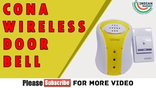 Cona Wireless Door Bell With Remote Calling in Hindi
