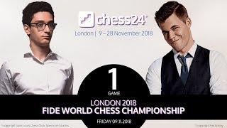 Game 1 - 2018 FIDE World Chess Championship - Caruana-Carlsen