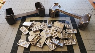 Cast Aluminum Dominoes | Box | 3D Printed Pattern and Water Glass Sand