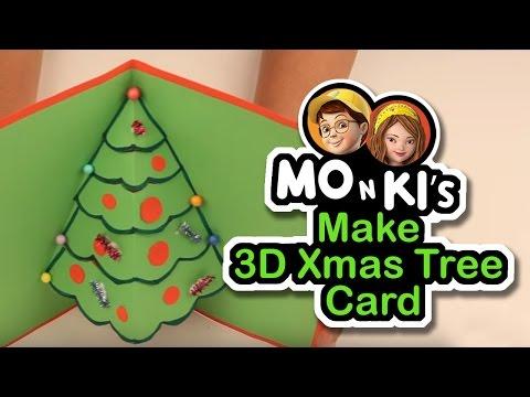 Mo n Ki make 3D Xmas Tree Card - Worldoo