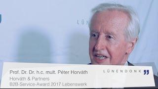 Prof. Dr. Dr. h.c. mult. Péter Horváth im Interview - B2B-Service-Award 2017 Lebenswerk