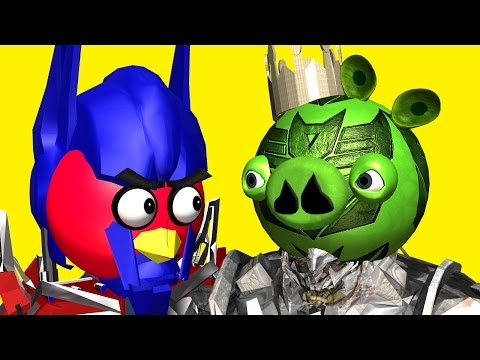ANGRY BIRDS as TRANSFORMERS ♫ 3D animated movie mashup pt.2 ☺ FunVideoTV Style ;
